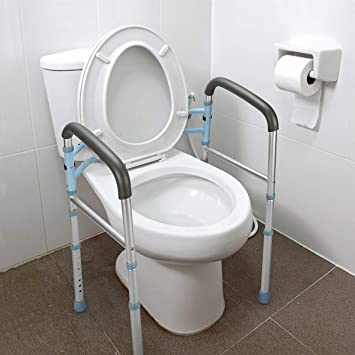1a96d4eccf4 OasisSpace Stand Alone Toilet Safety Rail - Heavy Duty Medical Toilet Safety  Frame for Elderly