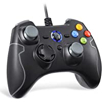 Wired Gaming Controller, EasySMX PC Game Controller Joystick Dual-Vibration Turbo Trigger Buttons Windows/Android/ PS3…