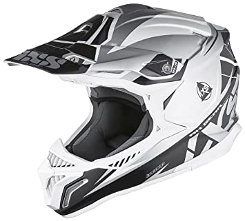 IXS HX 179 Flash Cross Casco de motocross Tri Composite – Plata Negro Blanco