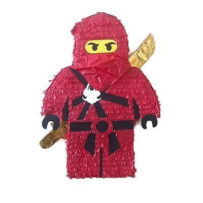 IPINATA Red Ninja Pinata: Toys & Games