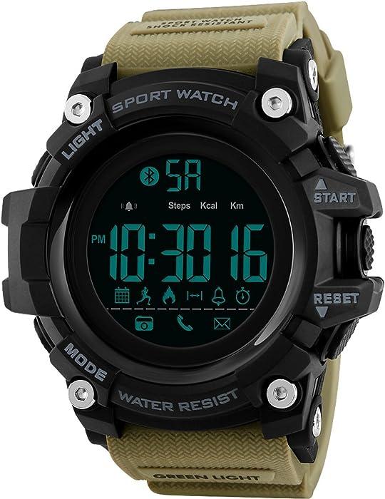 Smart Watch Hombre compatible con iOS Android resistente al agua 5 ATM Bluetooth schrittz? – Enfriabotellas Calorías Sport Reloj digital