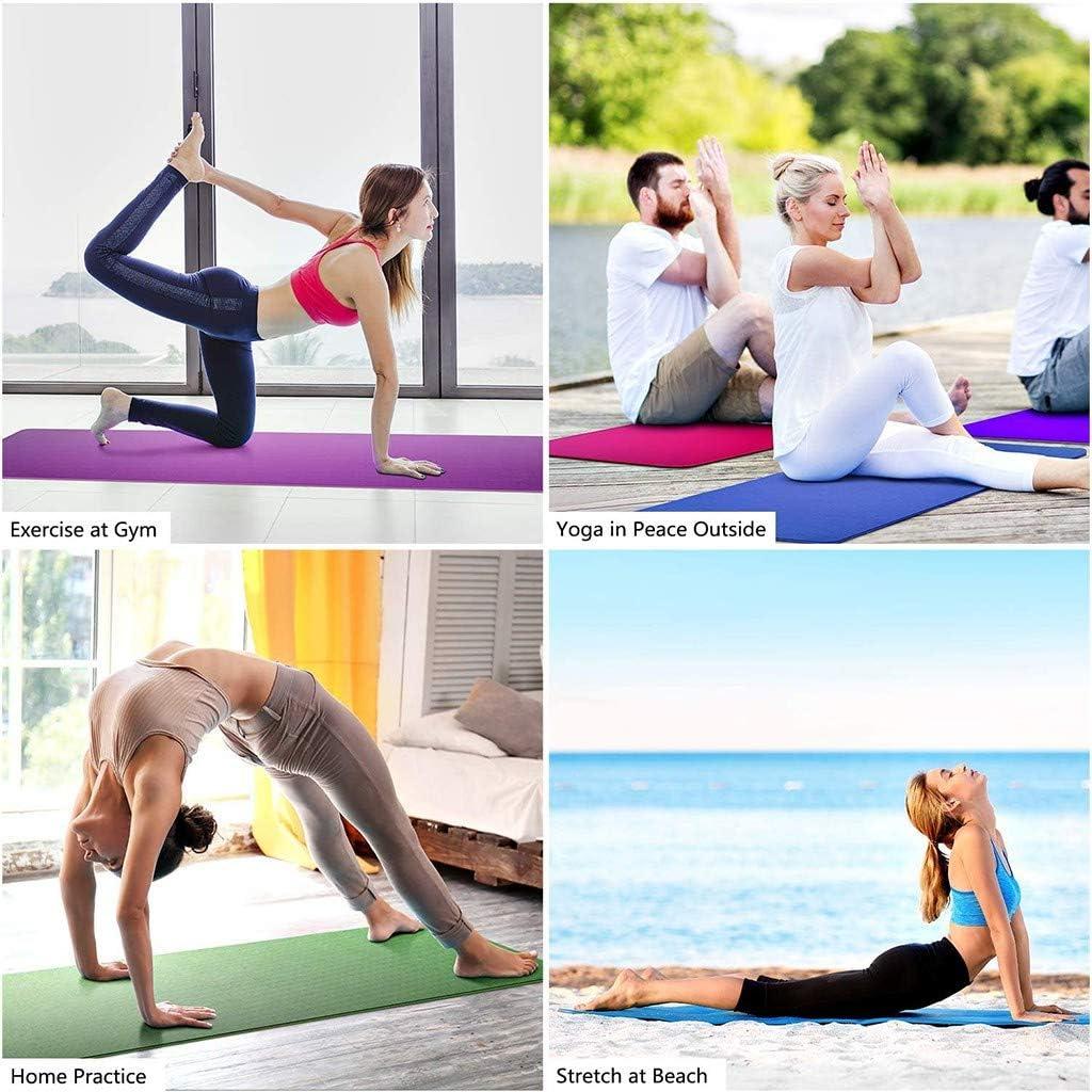 TOPBIGGER Non Slip Exercise Yoga Mat Fitness Extra Thick Yoga Exercise Mat Yoga Mat Fitness Exercise Mat