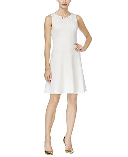 Ivanka Trump Women's Ponte Fit and Flare Sheath Toggle Dress