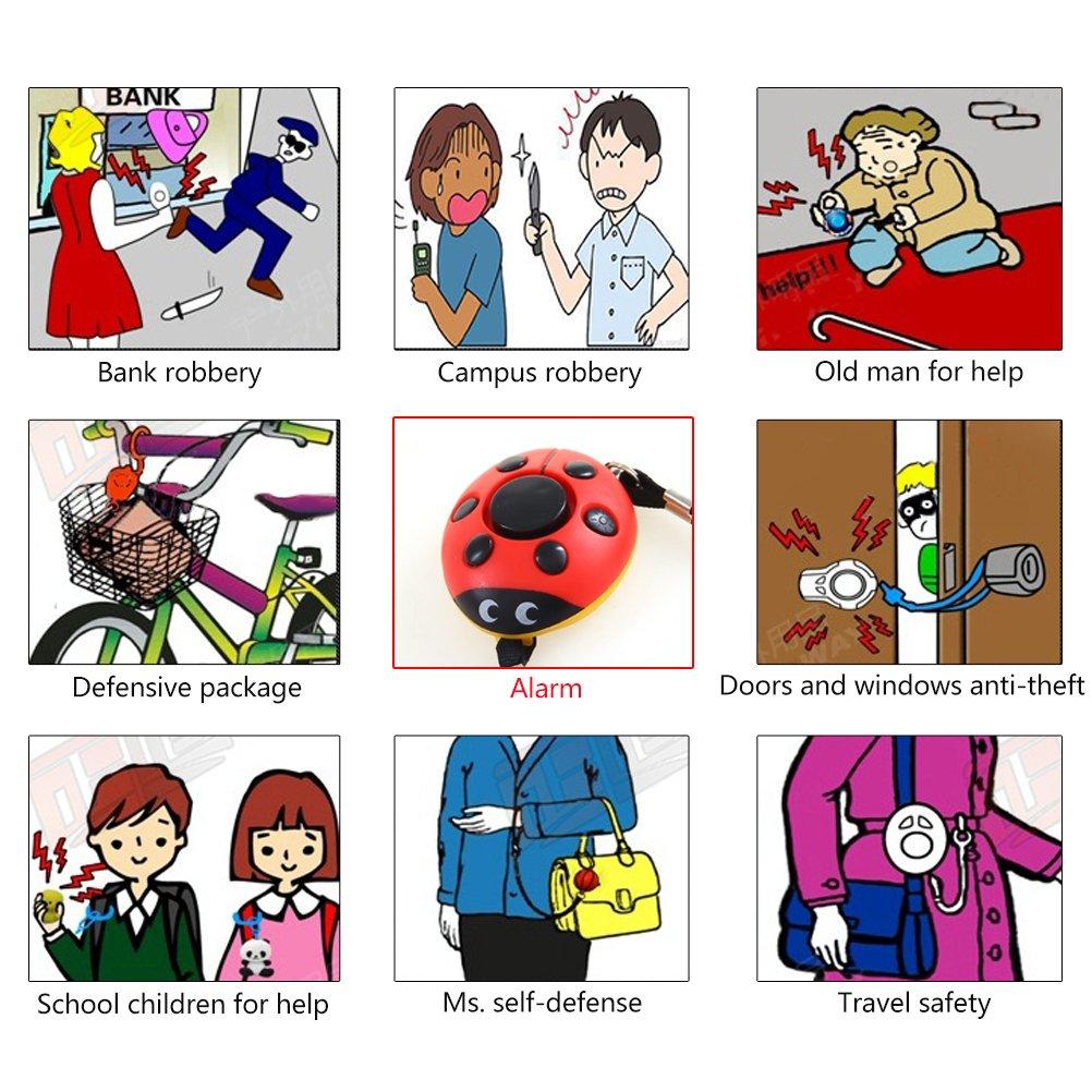 Alarmas personales para mujeres, niños, ancianos, paquete de ...