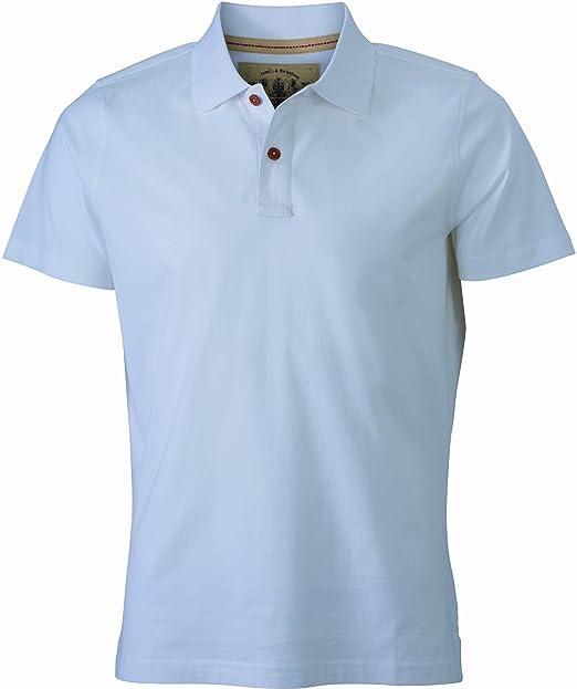 James & Nicholson Polo Mens Vintage, Hombre, Blanco, XL: Amazon ...