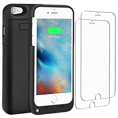 PEYOU [With 2 PACK Screen Protector Charger Case Compatible for iPhone 6 /  6S 4 7