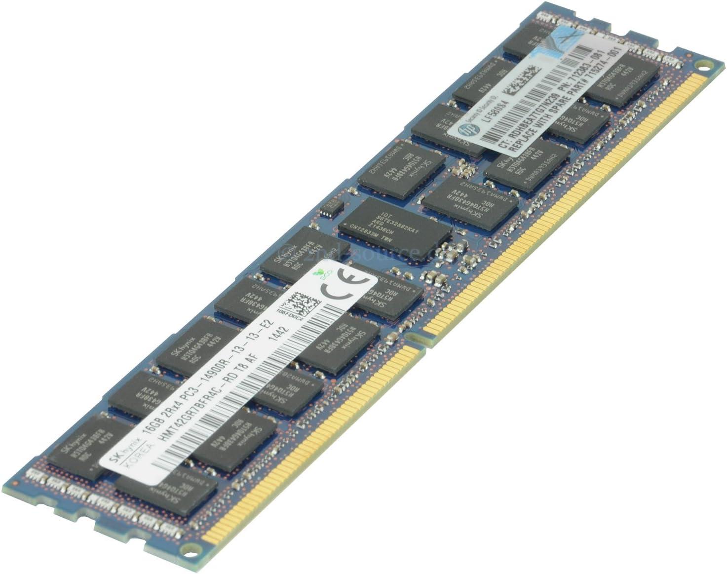 HP Samsung 16GB 2Rx4 PC3-14900R DDR3-1866 Server Memory 712383-081 708641-B21