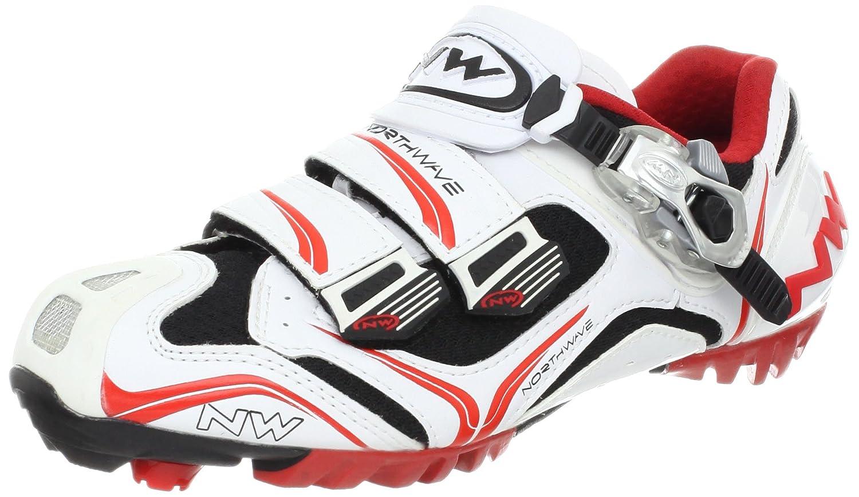 [Northwave] ノースウェーブメンズRazer MTB SBS Cycling Shoe B0032V4SGG 42 M EU / 9.5 D(M) US ホワイト/レッド/ブラック ホワイト/レッド/ブラック 42 M EU / 9.5 D(M) US