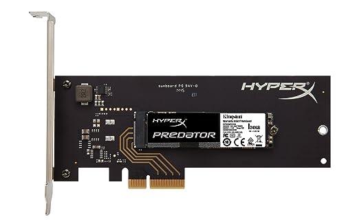 31 opinioni per Kingston HyperX Predator SSD, PCIe Gen2, 240 GB, con Adattatore