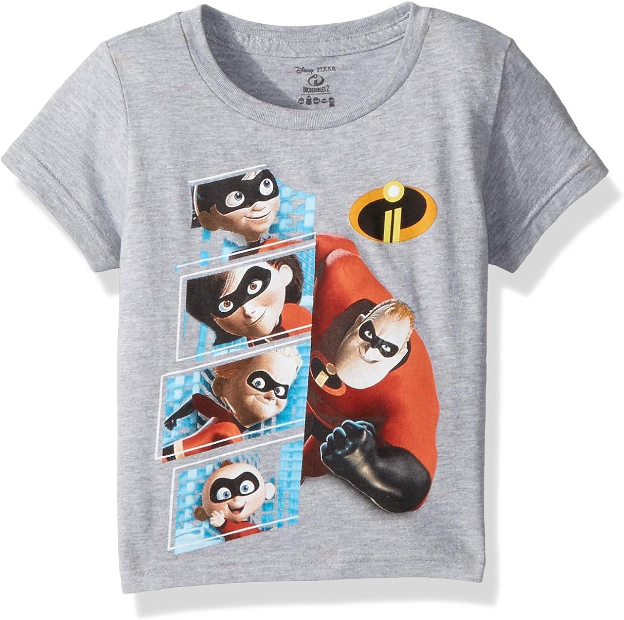 Disney Kids The Incredibles 2 Character Panel Short Sleeve T-Shirt