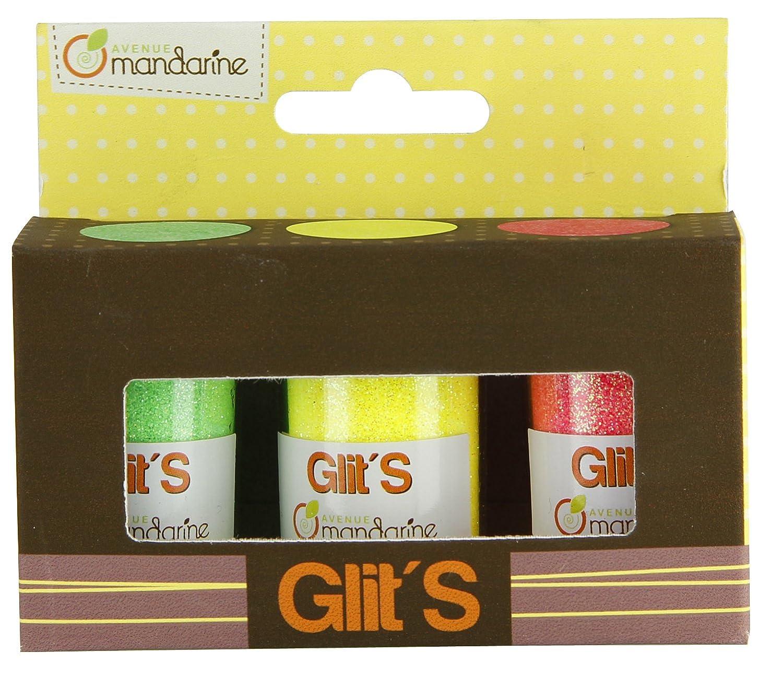 Avenue Mandarine 42665O Un Set De 3 Pots De Paillettes - Glit's - Fille MADLY