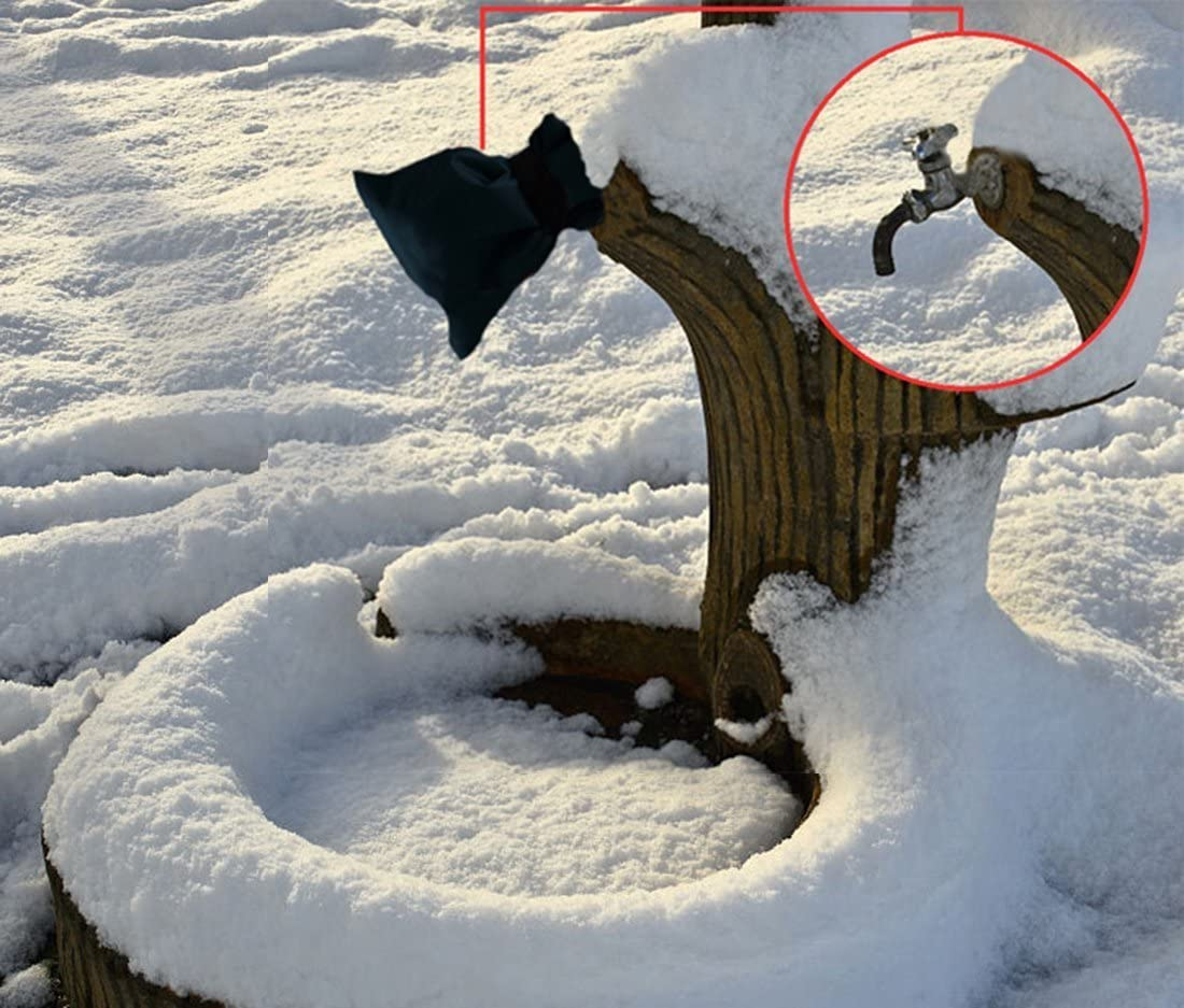 Patty Both Outdoor Faucet Covers for Winter Reusable Waterproof Insulated Spigot Cover Long Outside Garden Faucet Socks for Freeze Protection