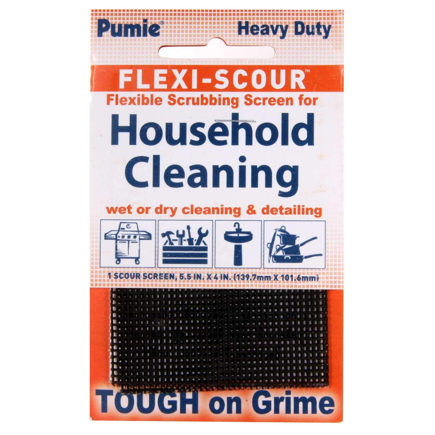 Pumie Flexi-Scour Flexible Scrubbing Screen for Household Cleaning, 5.5'' x 4'', Abrasive Grit Cleaning Screen, Clean Grills, Remove Carbon, Rust and Scale, Pack of 24