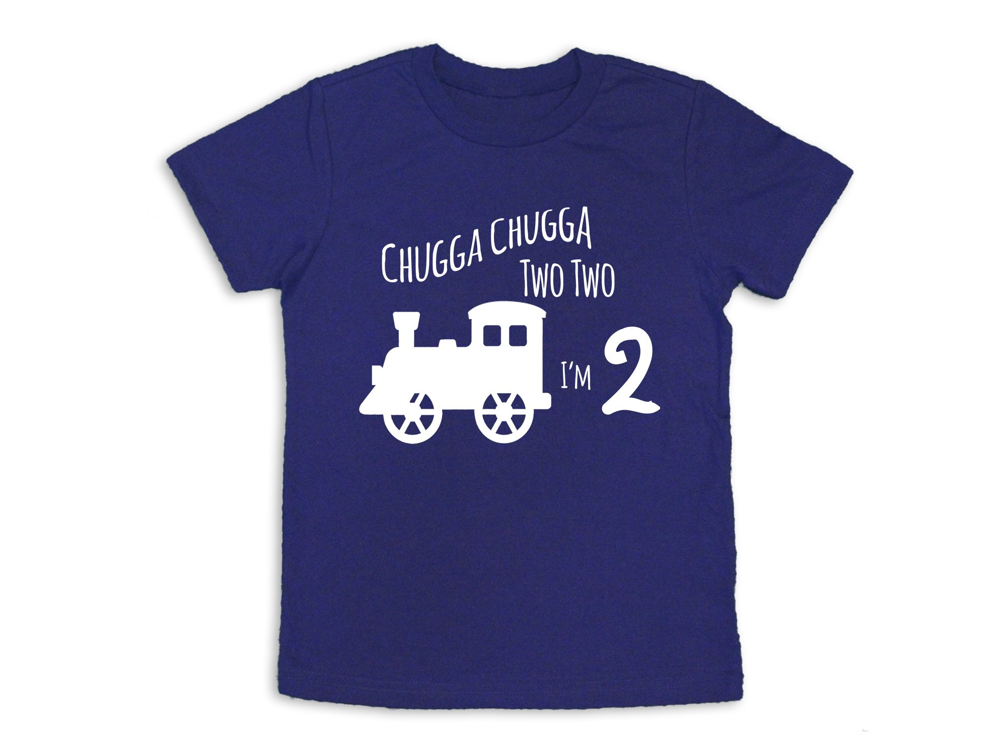 Oliver and Olivia Apparel 2nd Birthday Shirt Train 2nd Birthday Shirt Two Years Old (2 Toddler)