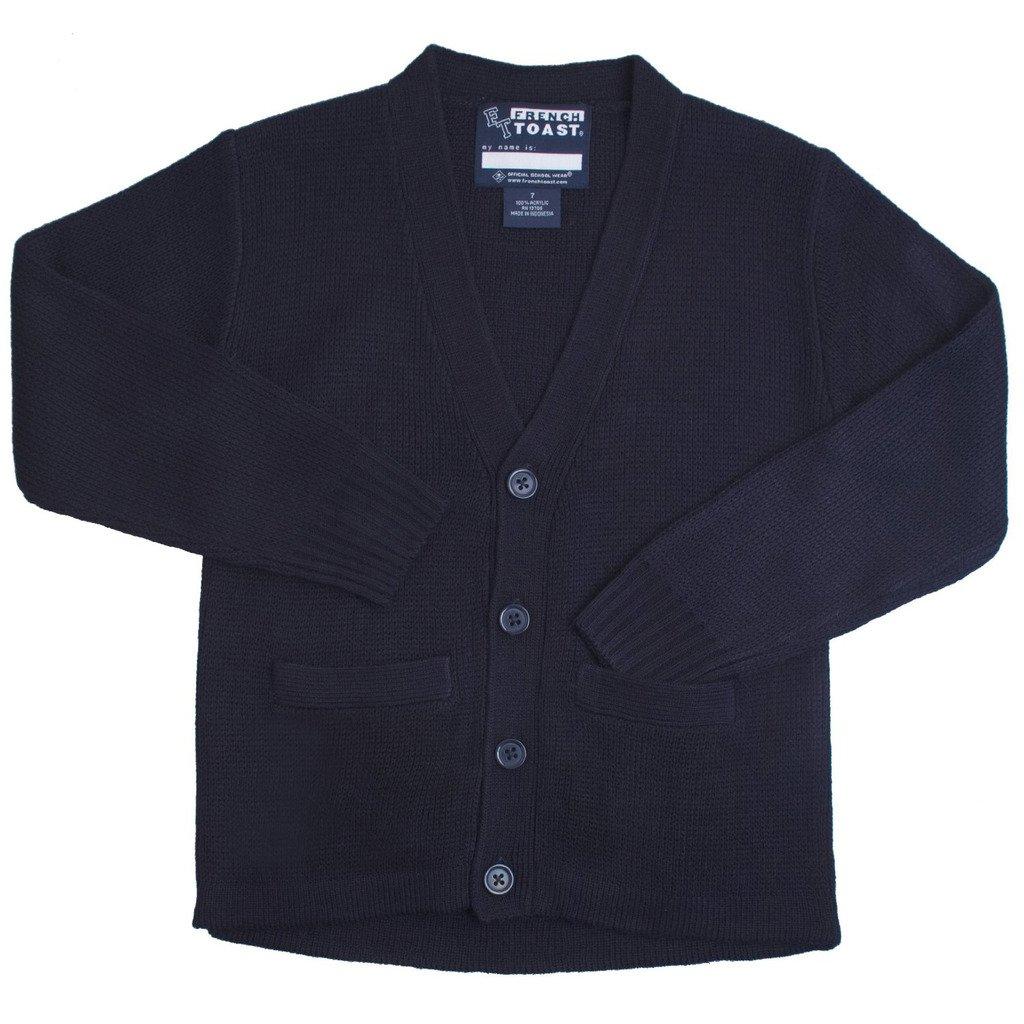 French Toast School Uniforms Anti-Pill V-Neck Cardigan Sweater Boys Navy 04