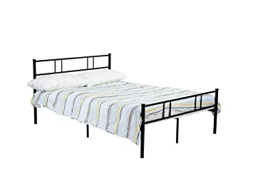black metal platform bed frame full size headboards and footboard with 10 legs need