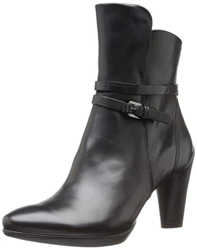 Ecco Damen Shape 75 Pointy Block Stiefel, Schwarz (Black), 41 EU