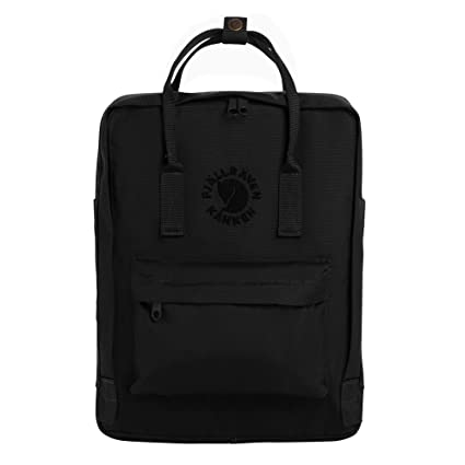 Fjallraven - Re-Kanken Recycled and Recyclable Kanken Backpack for  Everyday, Black 2b6b602998