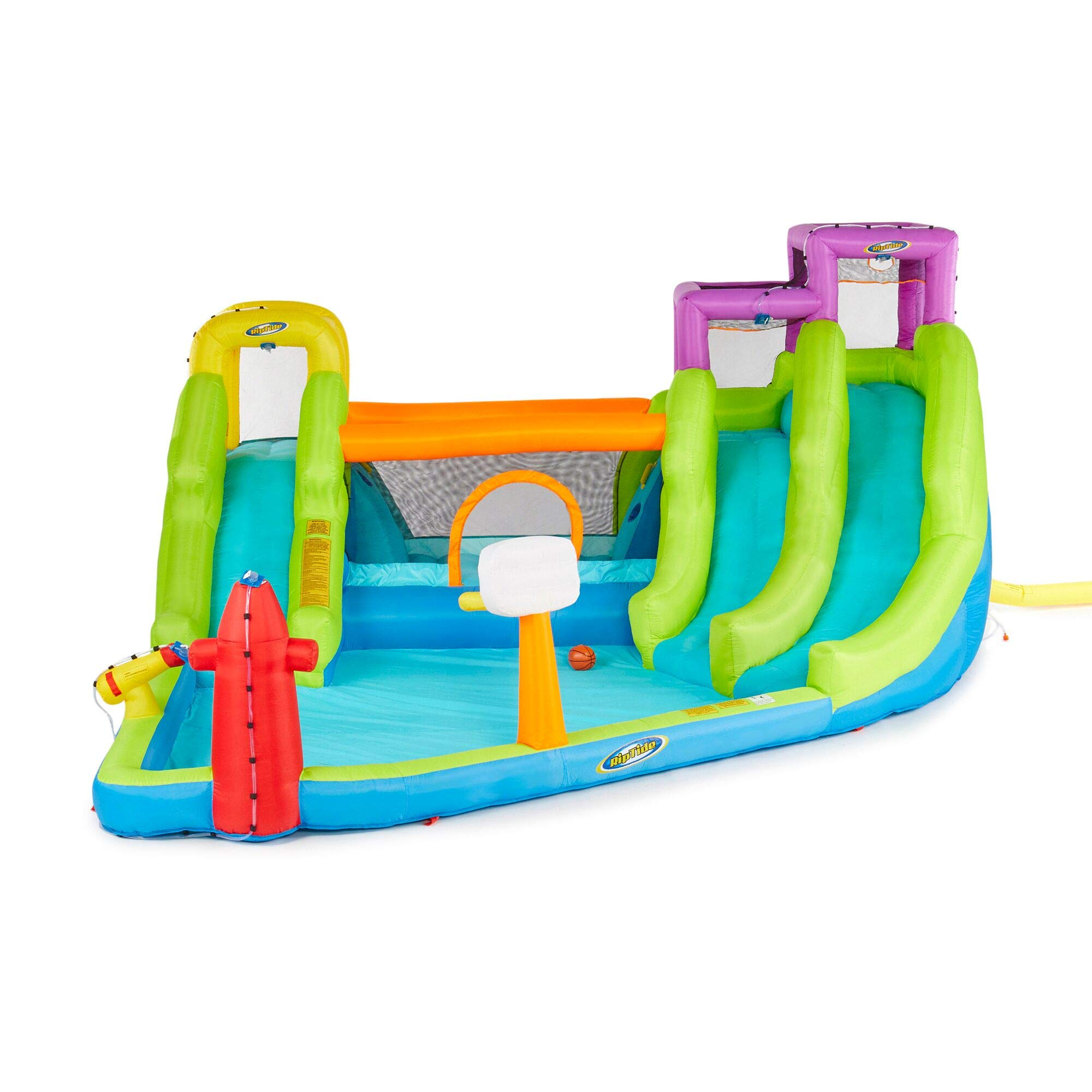 Riptide Triple Fun Inflatable PVC Water Park with 3 Slides & Obstacle Course by Riptide (Image #1)