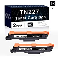 2 cartuchos de tóner negro TN227BK de repuesto para impresoras Brother MFC-L3770CDW MFC-L3730CDW HL-3210CW HL-3230CDW HL-3270CDW HL-3230CDN HL-3290CDW DCP-L3510CDW DCP-L3550CDW DCP-W DCP-L3550CDW