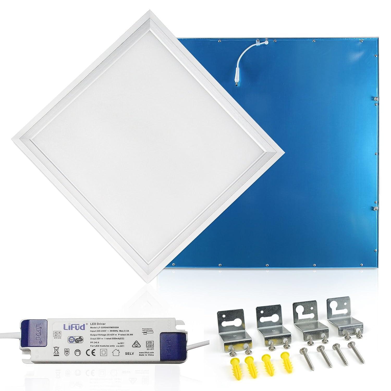 LED Panel 60x60 Warmweiss 3000K Ultraslim LED Deckenleuchte 40W inkl. Trafo und Befestigungsmaterial für Systemdecken wie Odenwalddecke Rasterleuchten Einlegeleuchte Büroleuchten [Energieklasse A+] Grandekor