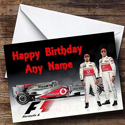 Jenson Button McLaren Formula 1 F1 Racing Car Blank Fathers Day Birthday Card