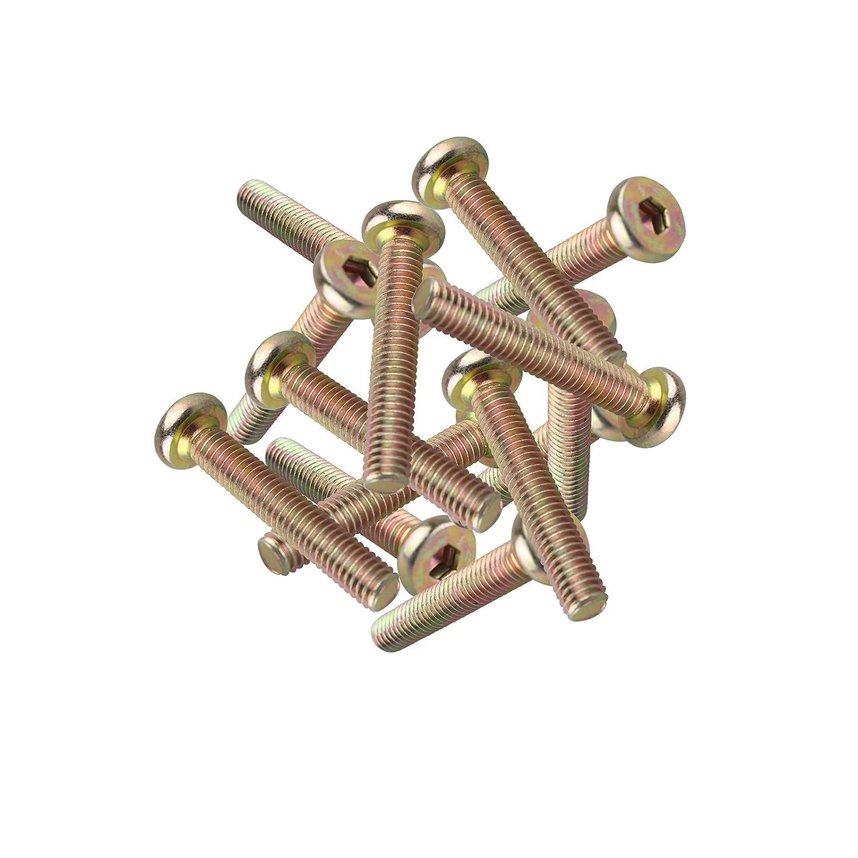 Lot de 20 M6 x 15 MM /à t/ête plate hexagonale vis