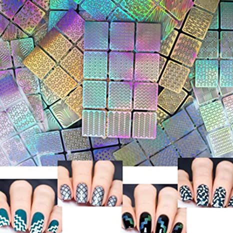 NaiseCore Pegatinas para uñas Bosquejo Pegatinas para uñas Bosquejo Pegatinas para uñas Pintada Impresas para niña