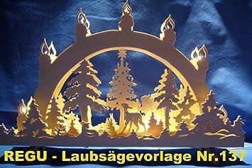 REGU Laubsäge-Vorlage Weihnachten auf der Waldlichtung Nr. 137 ...