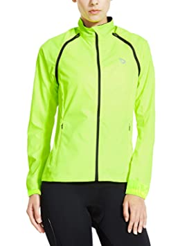 Image Unavailable. Image not available for. Colour  Baleaf Women s  Windproof Water Resistant Convertible Cycling Running Jacket Fluorescent ... ecbf7cd0a