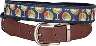 product image for Martini & Olives Cut-to-Size Leather Tab Belt by Belted Cow Company - Made in Maine