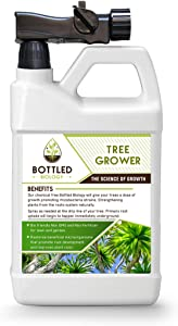 Bottled Biology - Tree Grower - Beneficial Tree Root and Soil Additive Ready to use Non Fertilizer - Any Tree Type - 6,000sqft Coverage of Liquid Spray On Microbes