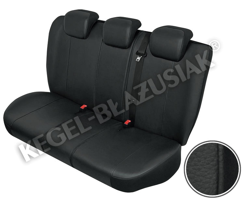 ZentimeX Z705657 Sitzbez/üge R/ückbank Kunstleder schwarz