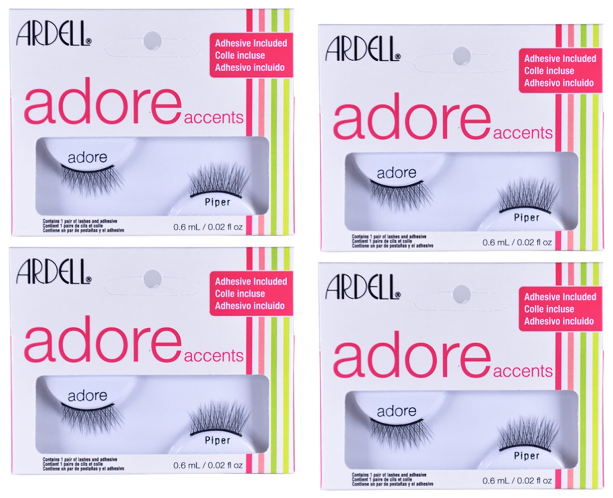 fe0a24872d9 Amazon.com : Accent False Eyelashes Adore Lash Piper, 4 pack by ...