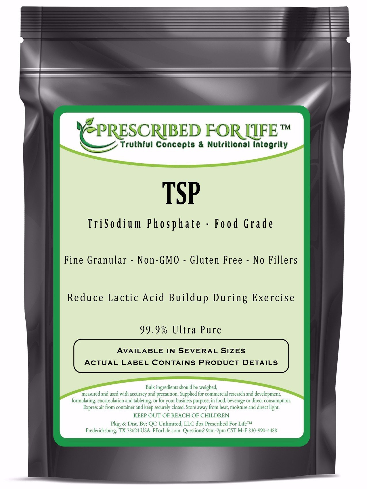 TriSodium Phosphate Anhydrous (TSP) - US Food Grade Granular, 12 oz by Prescribed For Life (Image #1)