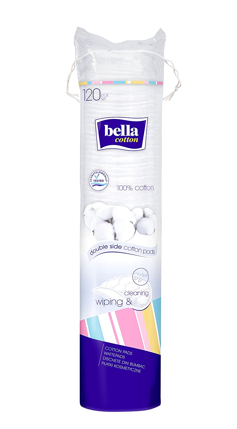 Bella Cotton Duo Cotton Pads Round (5 Packs of 120 Pads) BC-082-O120-015
