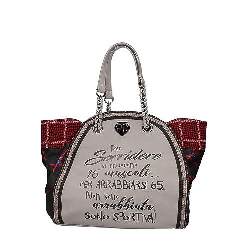 c0194e4053 LE PANDORINE Borsa Donna Classic Sorridere AI18DAF0222502-Grey: Amazon.it:  Scarpe e borse