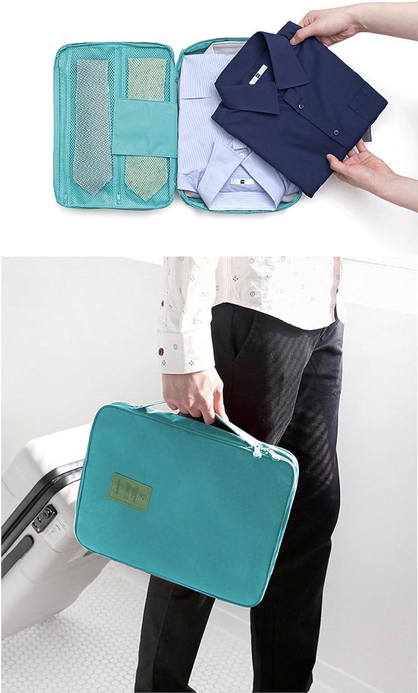 GIANCOMICS Travel Shirt Organizer Anti-wrinkle Dress Ties Storage Pouch Blue