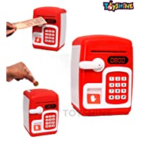 Toyshine Money Safe Kids with Finger Print Sensor Piggy Savings Bank with Electronic Lock, RED