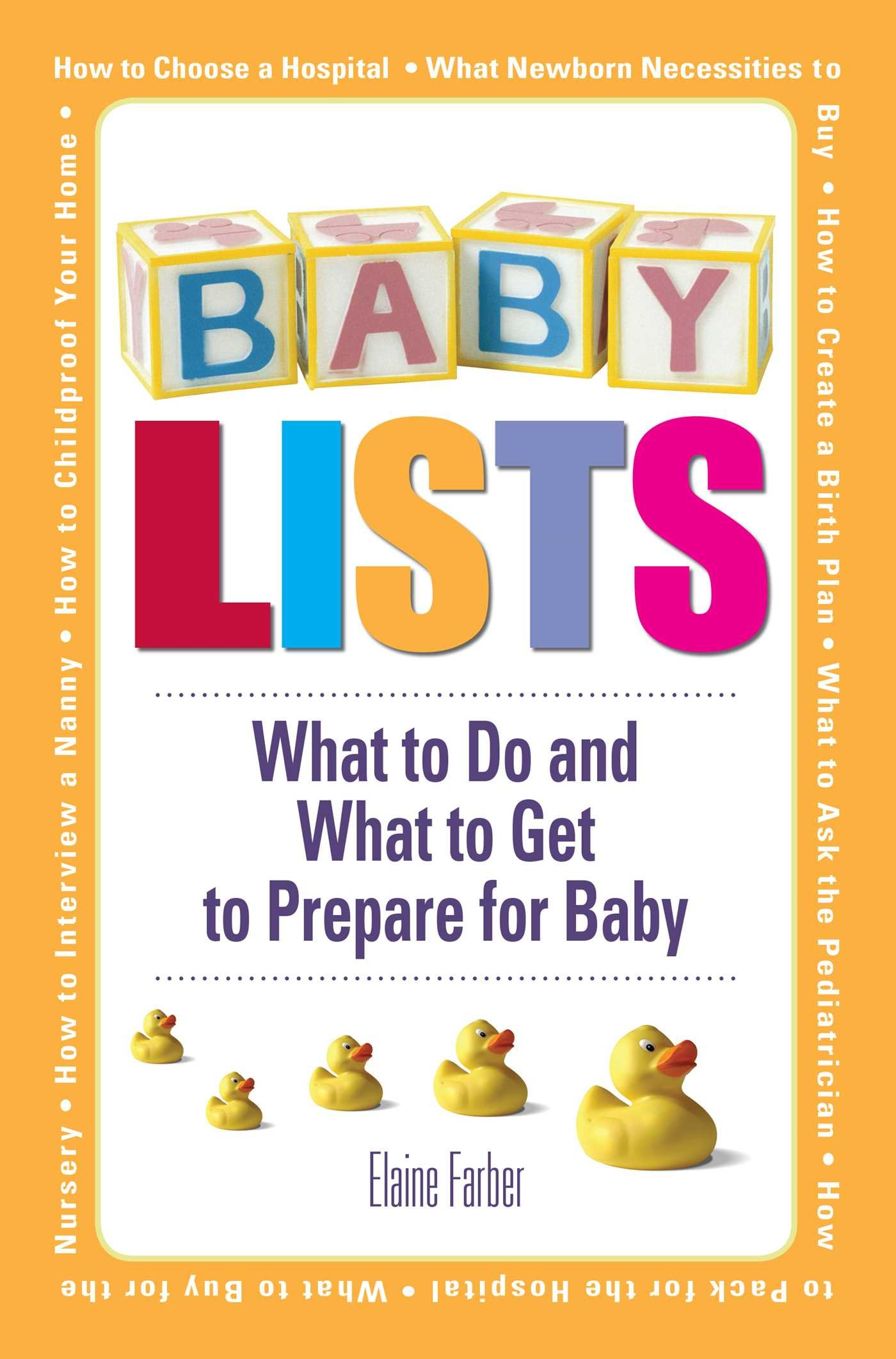 Download Baby Lists: What to Do and What to Get to Prepare for Baby ebook