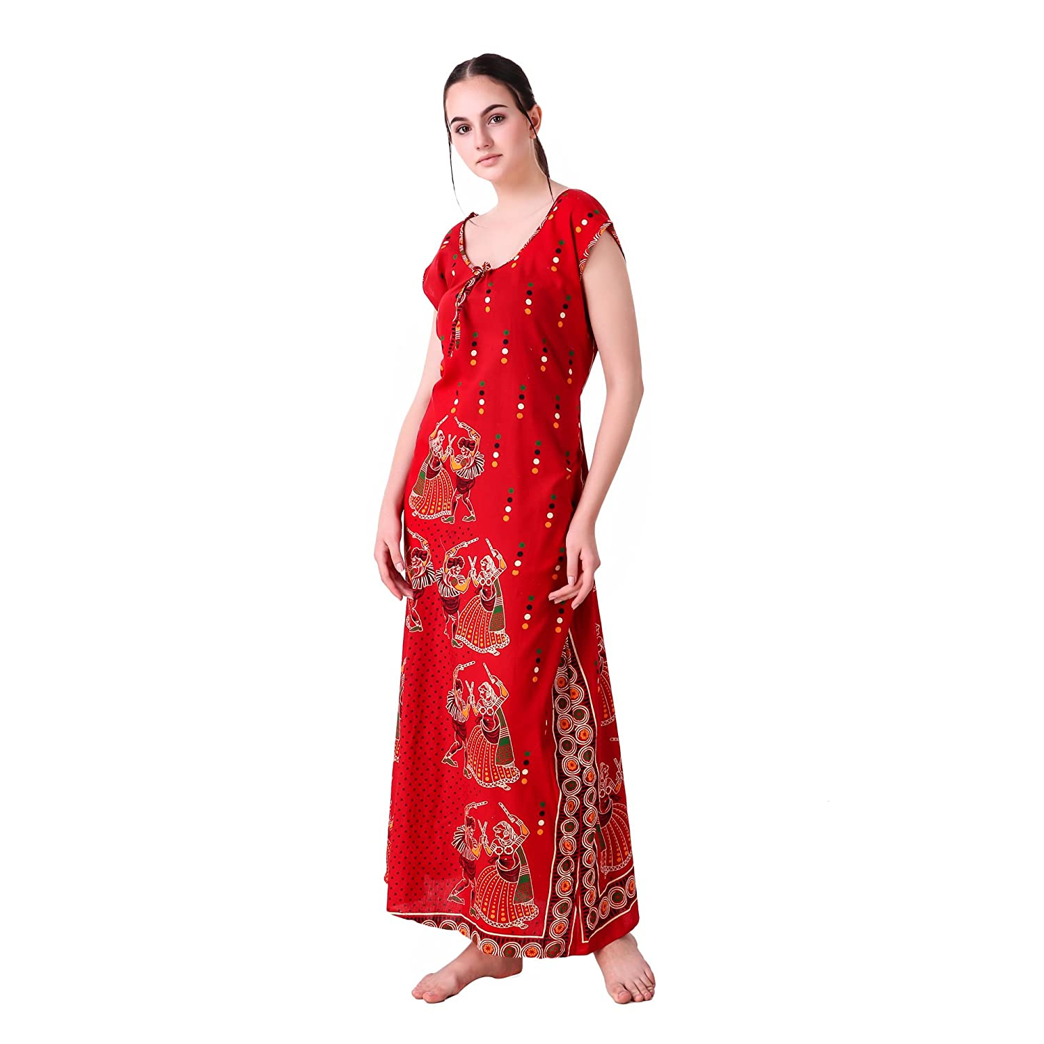 exquisite style novel style outlet MILIT Sleeveless Printed Cotton Nighty (Free Size Fits up to 44 inches(Bust  Size))