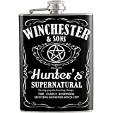 8oz - Supernatural Hunters Liquor Hip Flask Stainless Steel FK-0719