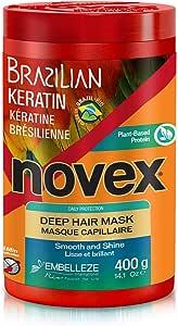 Novex Brazilian Keratin Deep Conditioning Hair Mask, 14 oz.