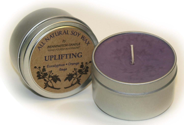 All Natural Soy Wax by Bennington Candle (Uplifting) - Eucalyptus, Orange, Sage