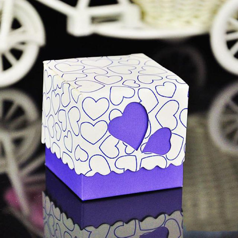Amazon.com: Crazy Genie 50pcs Hollow Out Love Heart Bowknot Pattern ...
