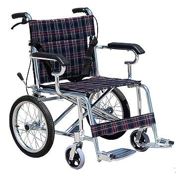GUO Gruesa plegable de aluminio plegable de la pequeña asaltos en peso ligero scooter de la silla de ruedas portátiles de la silla de ruedas ancianos: ...