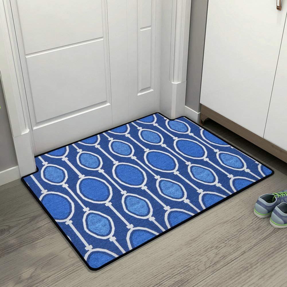 bluee C 80x100cm(31x39inch) Non-Slip Door Mat, Entrance Door Mat Living Room Carpet Geometric Pattern Easy to Clean-bluee 100x100cm(39x39inch)