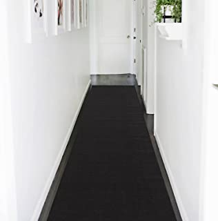 Ottohome Collection Solid Color Hallway And Wedding Runner Rug (3X12, Black)