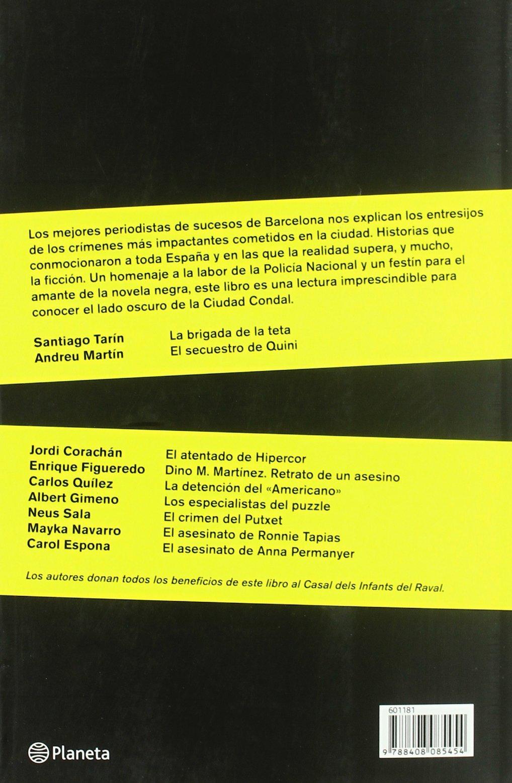 Barcelona negra ((Fuera de colección)): Amazon.es: Rafael Jiménez: Libros