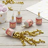 Ginger Ray Gold Foiled Yay! Ombre Pink Birthday Party Poppers - 25 Pack - Pick And Mix
